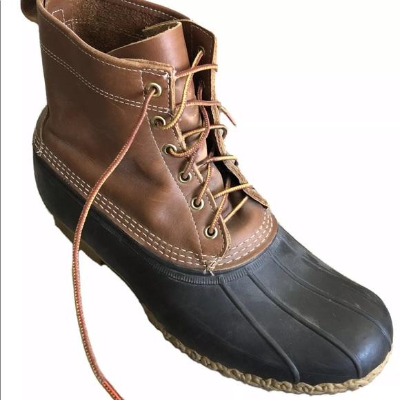LL BEAN Men's Bean Boots 8 inch Duck Boots 15 - 16